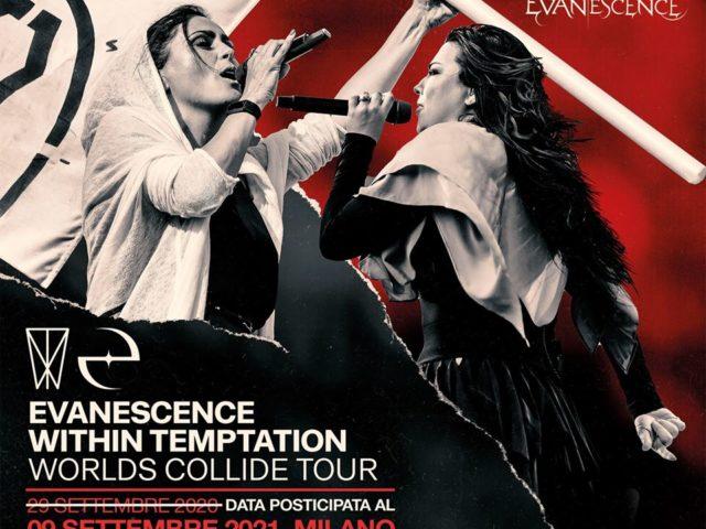 Amy Lee degli Evanescence e Sharon den Adel dei Within Temptation: il loro concerto milanese spostato a Giovedì 9 Settembre 2021