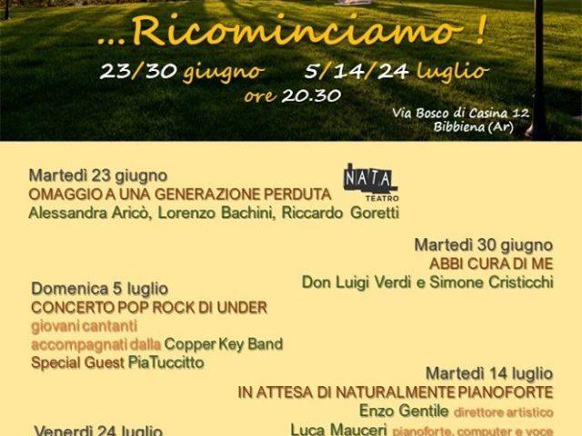Ricominciamo! A Bibbiena con Pia Tuccitto, Enzo Gentile e Simone Cristicchi..