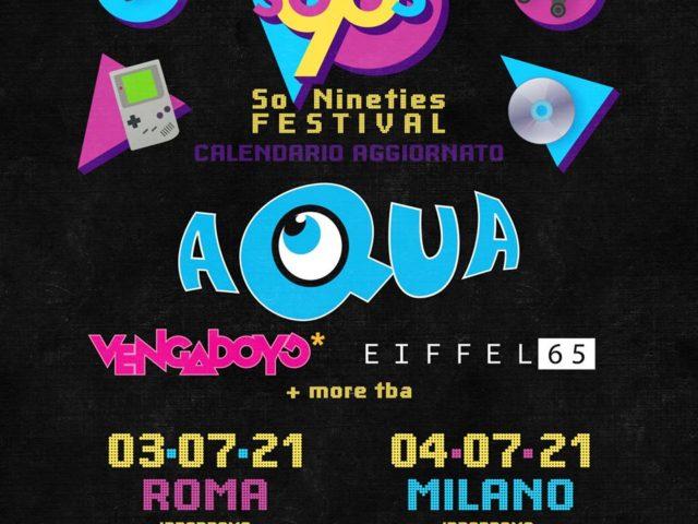 Aqua, Eiffel 65 e Vengaboys il 4 luglio 2021 a Roma e Milano