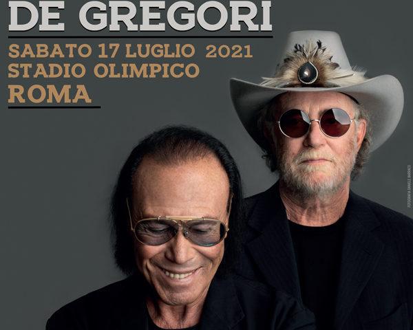 Antonello Venditti e Francesco De Gregori live a Roma il 17 luglio 2021