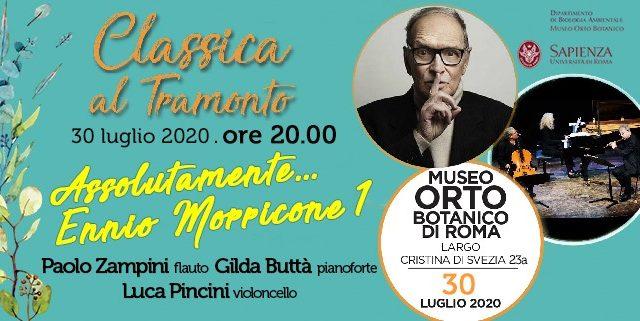 Assolutamente… Morricone, due concerti speciali il 30 luglio all'Orto Botanico di Roma con le sue musiche
