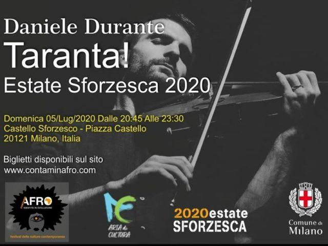Daniele Durante (direttore artistico de La Notte della Taranta) sarà Domenica 5 Luglio al Castello Sforzesco