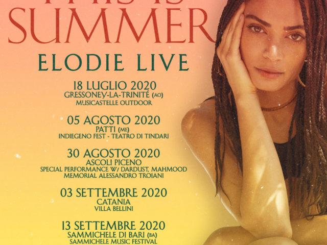 L'estate di Elodie con cinque appuntamenti live prodotti da Vivo Concerti