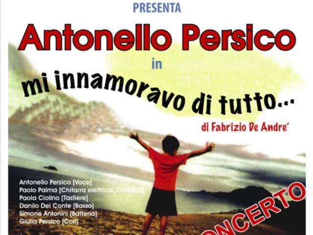 Tributo a Fabrizio De Andrè con Antonello Persico il 9 agosto a Castel di Sangro