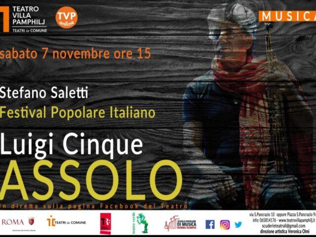 Assolo del Festival Popolare Italiano, quattro concerti in streaming dal 7 al 28 novembre