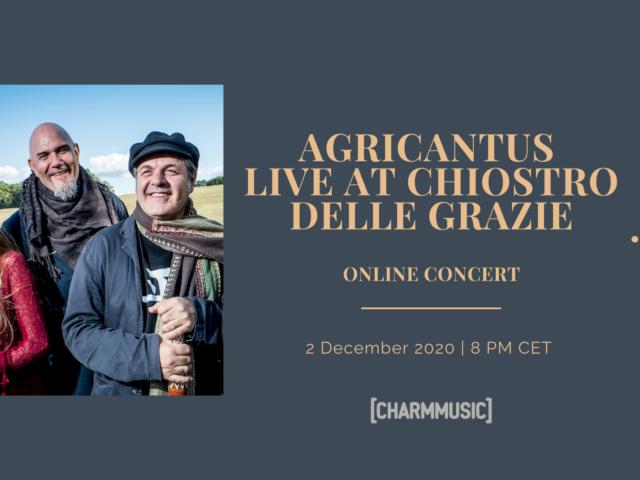 Agricantus live in streaming dal Chiostro delle Grazie di Vittoria (RG) il 2 dicembre