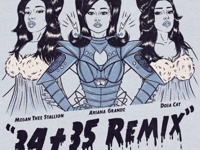 Ariana Grande con il remix di 34+35 featuring Doja Cat e Megan Thee Stallion