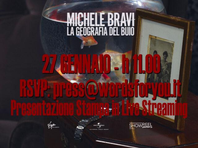 Conferenza stampa in live streaming per Michele Bravi