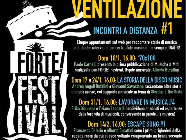Ventilazione: libri e musica a cura del Forte Festival