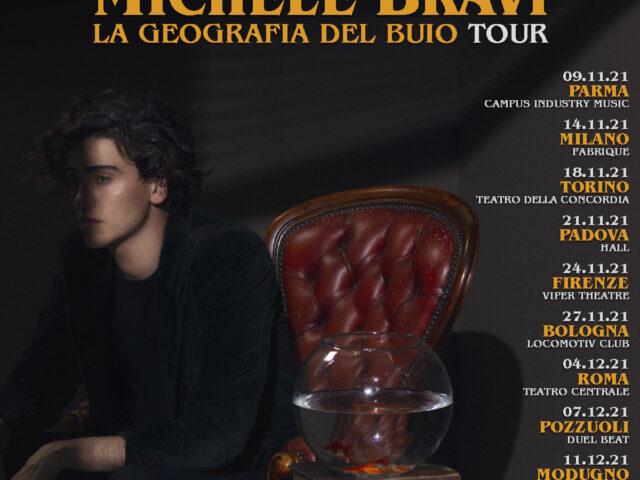 Nove concerti di Michele Bravi tra Novembre e Dicembre