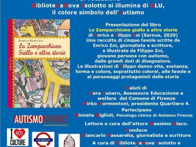 Giornata mondiale della consapevolezza dell'autismo: al Quartiere 4 di Firenze il libro di Enrico e Filippo Zoi