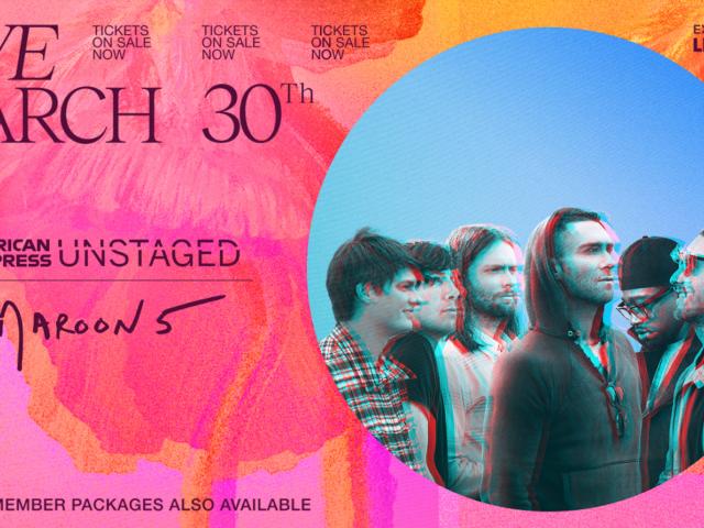 Martedì 30 Marzo 2021 i Maroon 5 in una performance live streaming su LIVENow