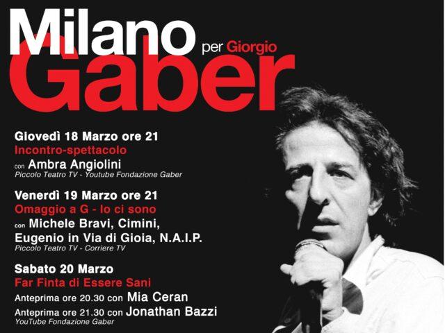 Milano per Gaber: dal 18 marzo in streaming