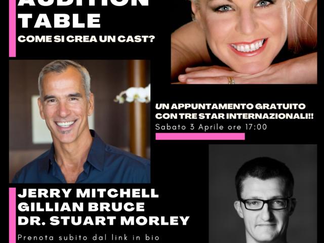 Jerry Mitchell, Stuart Morley e Gillian Bruce: lezione online per raccontare come ci si prepara ad una audizione