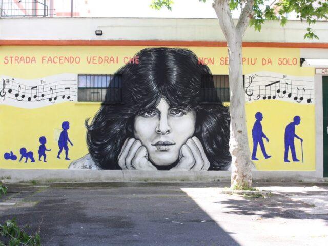 Auguri a Claudio Baglioni, appena diventato un murales
