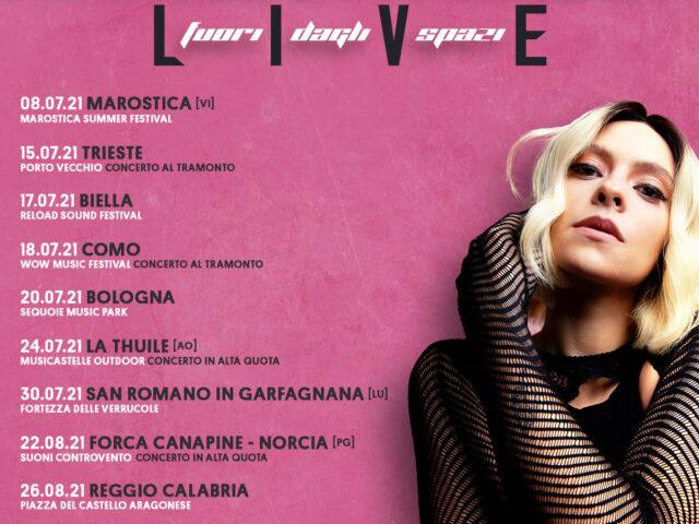 Francesca Michielin in tour con Live – Fuori dagli spazi