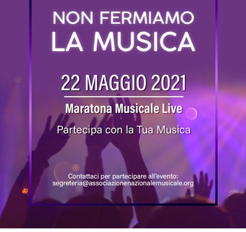 12 ore continuative di musica live sui canali social dell'A.N.M.I. Associazione Nazionale Musicisti Italiani