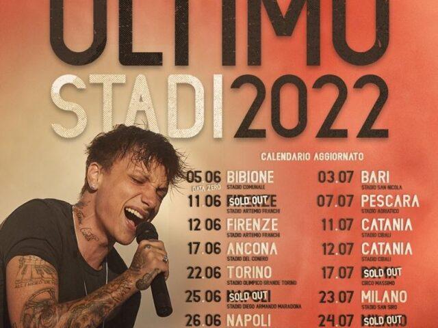 Annunciate le date di Ultimo negli stadi nel 2022: già quattro sold out!