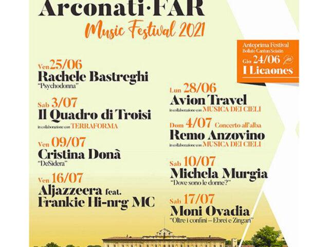 Festival di Villa Arconati – FAR 2021, confermato dal 24 Giugno al 17 Luglio