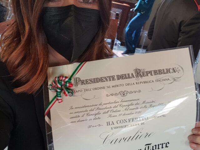 Alla pianista Giuseppina Torre l'onorificenza di Cavaliere al Merito della Repubblica