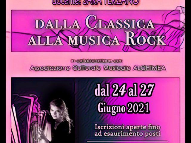 Dalla Classica alla Musica Rock; masterclass dell'arpista Sara Terzano