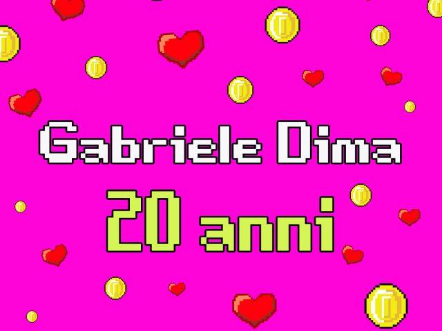 I 20 anni di Gabriele Dima