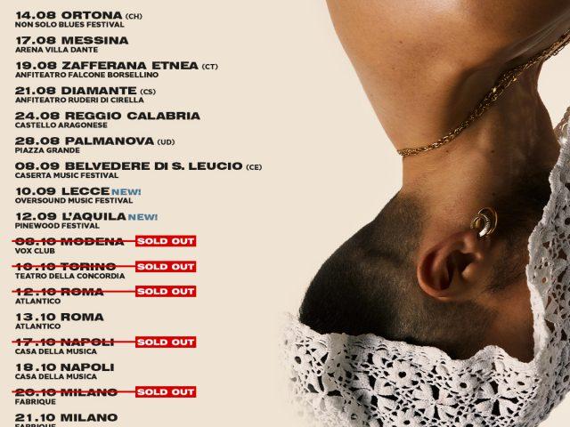 Il tour di Aiello si aggiorna con nuovi concerti