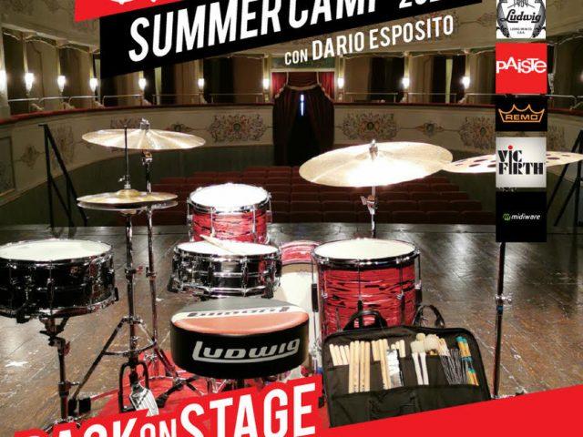 Drum Summer Camp 2021 con Dario Esposito dal 22 al 25 luglio e dal 2 al 5 agosto ad Arcevia (AN)