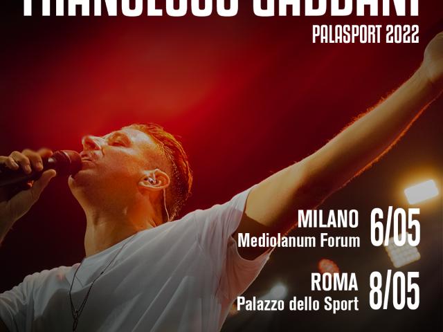 Francesco Gabbani torna dal vivo nel 2022 con due date nei Palasport: Milano e Roma