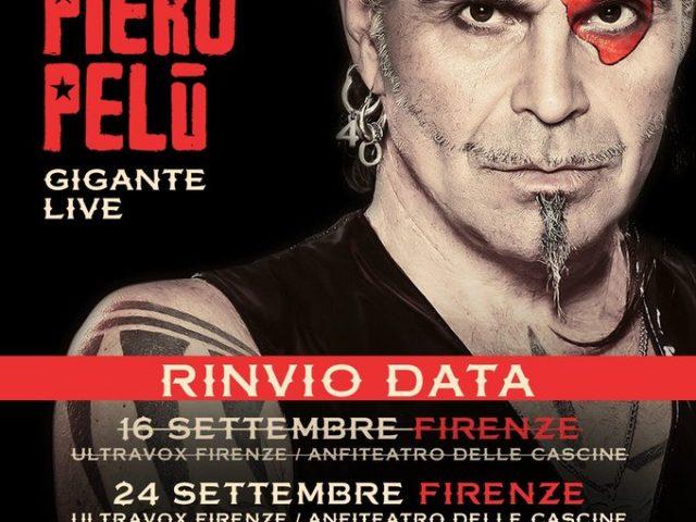 Causa maltempo previsto, slitta il concerto fiorentino di Piero Pelù