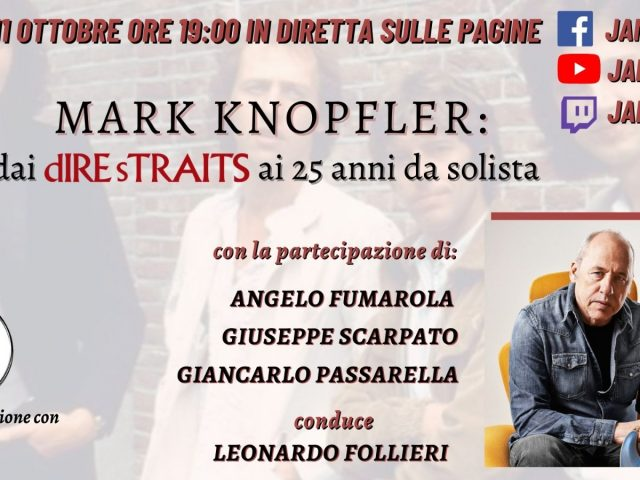 Mark Knopfler il protagonista di Jam Tv nella puntata di Lunedì 11 Ottobre